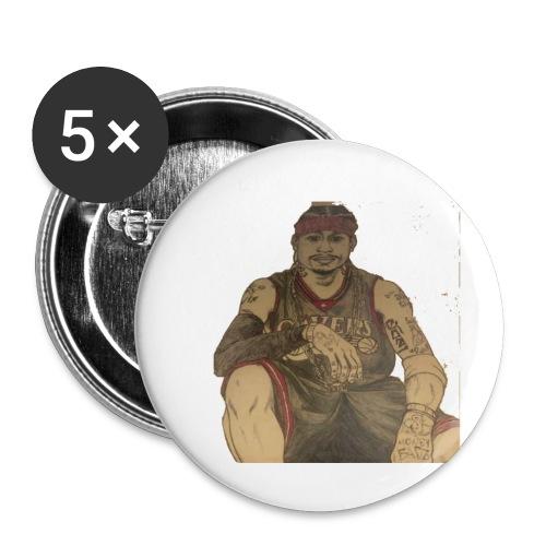 jugador - Paquete de 5 chapas pequeñas (25 mm)