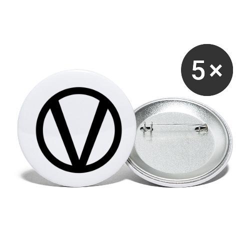 vegan - Små knappar 25 mm (5-pack)