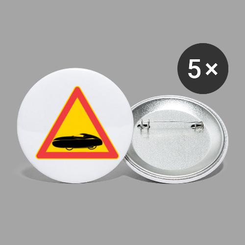 Traffic sign velomobile - Rintamerkit pienet 25 mm (5kpl pakkauksessa)