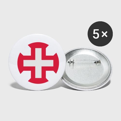 Croix du Portugal - Lot de 5 petits badges (25 mm)