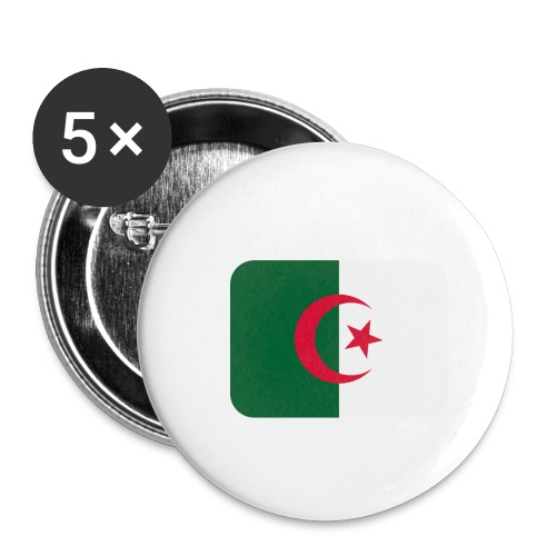 Algerien Flagge - Buttons klein 25 mm (5er Pack)