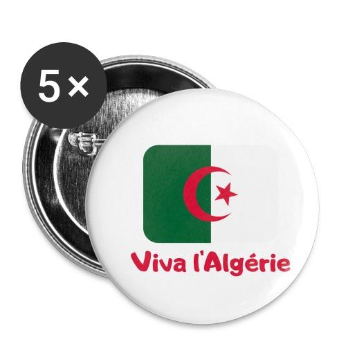 Viva l Algérie Fussballsaison - Buttons klein 25 mm (5er Pack)