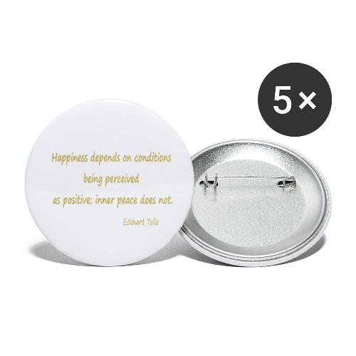 Happiness - Buttons small 1''/25 mm (5-pack)