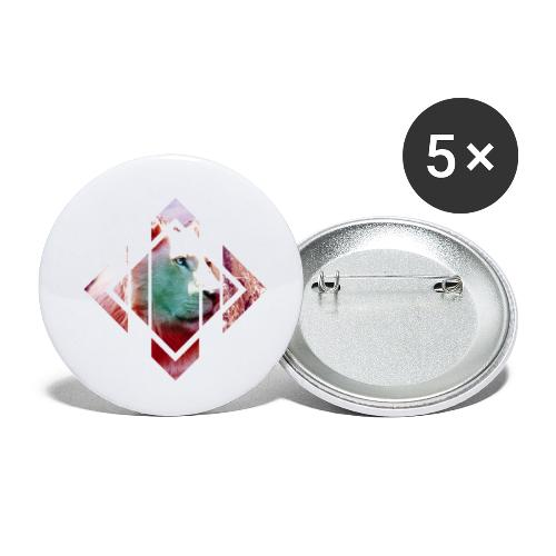 lion - Buttons small 1''/25 mm (5-pack)