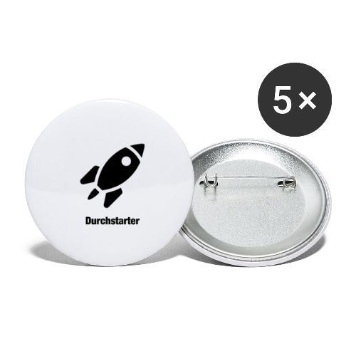 Durchstarter - Buttons klein 25 mm (5er Pack)