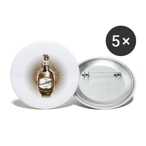 headCRASH beer 2 - Buttons klein 25 mm (5er Pack)