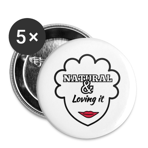 Natural & Loving It - Buttons small 1''/25 mm (5-pack)