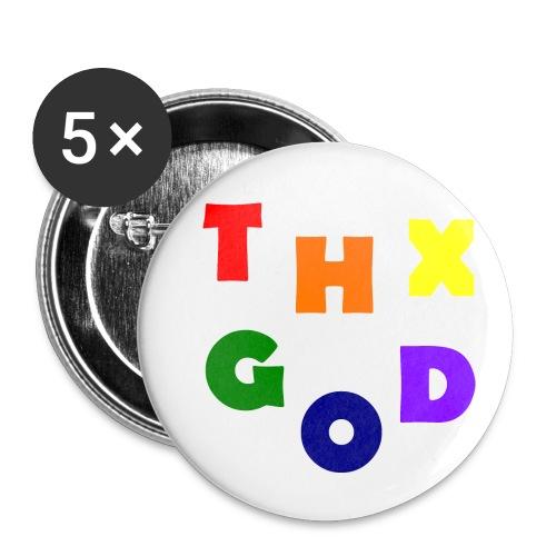 THX GOD - Buttons klein 25 mm (5er Pack)