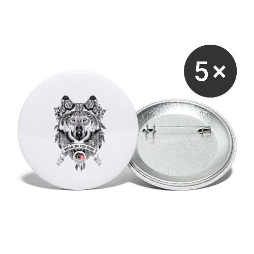 WOLF-PEDAELA - Paquete de 5 chapas pequeñas (25 mm)