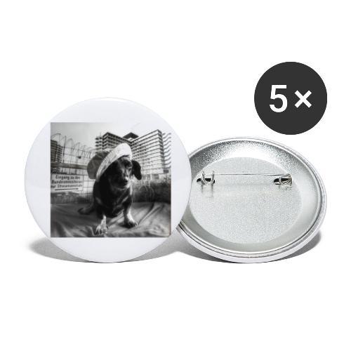 Minister Dog - Buttons klein 25 mm (5er Pack)
