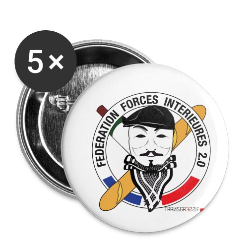 FFi Anonymous - Lot de 5 petits badges (25 mm)