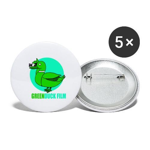 Greenduck Film Turkis blue sun Logo - Buttons/Badges lille, 25 mm (5-pack)