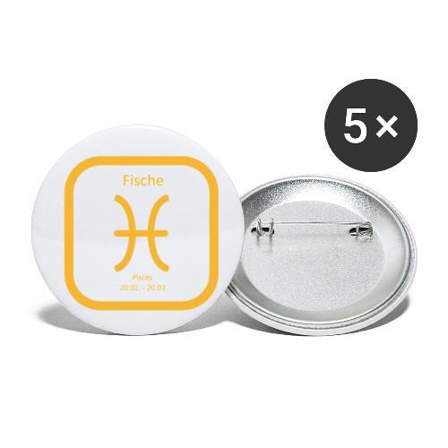 Horoskop Fische12 - Buttons klein 25 mm (5er Pack)