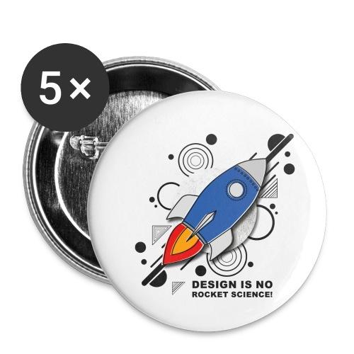 Design is no Rocket Science Nummer 3 - Buttons klein 25 mm (5er Pack)