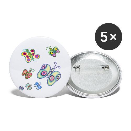 Allegria di farfalle - Confezione da 5 spille piccole (25 mm)