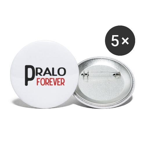 pralo forever noir et rouge - Lot de 5 petits badges (25 mm)