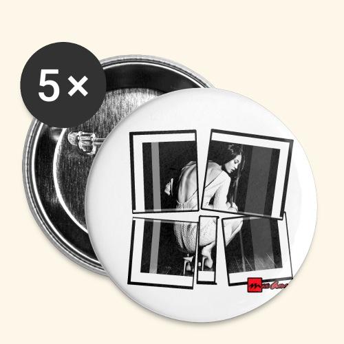 asia art 3 - Lot de 5 petits badges (25 mm)