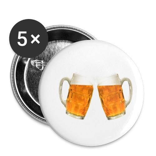 Zwei Bier - Buttons klein 25 mm (5er Pack)