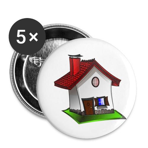 Haus - Buttons klein 25 mm (5er Pack)