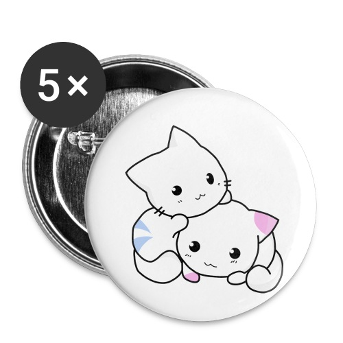 sweet cats - Buttons klein 25 mm (5er Pack)