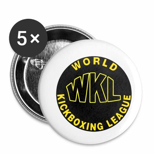 WKL BLACK - Paquete de 5 chapas pequeñas (25 mm)
