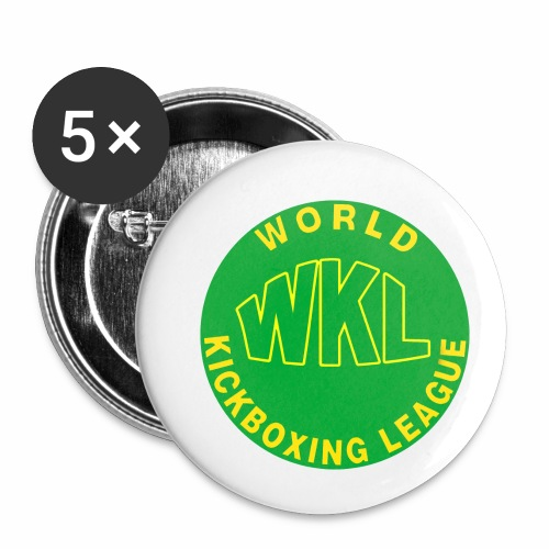 WKL GREEN - Paquete de 5 chapas pequeñas (25 mm)