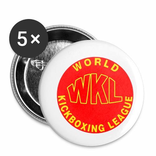 WKL RED - Paquete de 5 chapas pequeñas (25 mm)