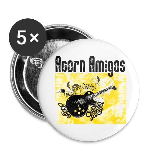 acorn amigos logo - Små knappar 25 mm (5-pack)