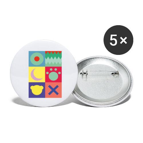 Ostfriesland Wappen - Minimalistisch - Buttons klein 25 mm (5er Pack)