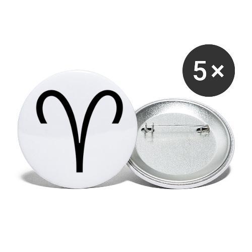 Widder - Buttons klein 25 mm (5er Pack)