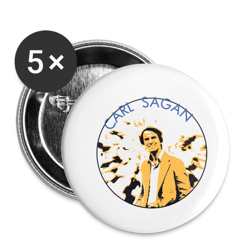 Vintage Carl Sagan - Buttons small 1''/25 mm (5-pack)