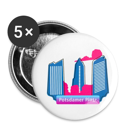 Potsdamer Platz skyscraper - Buttons small 1''/25 mm (5-pack)