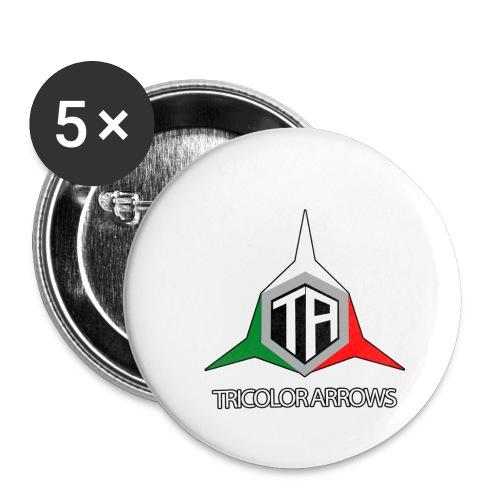 Tricolor Arrows - Confezione da 5 spille piccole (25 mm)