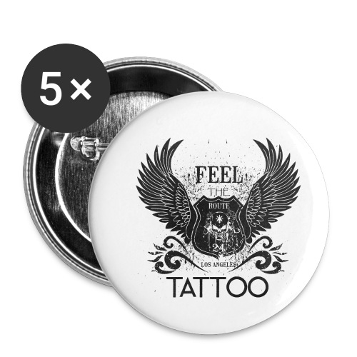 Feel The Tattoo - Buttons klein 25 mm (5er Pack)