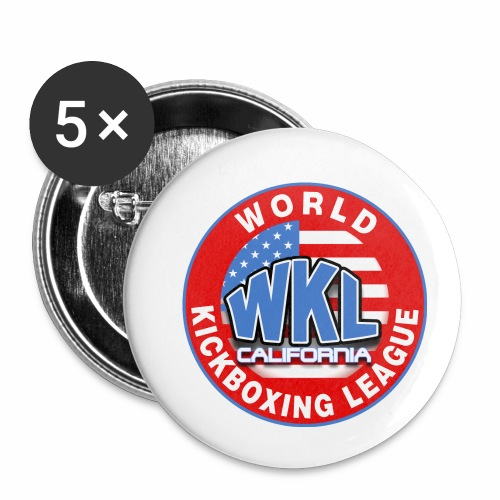 WKL CALIFORNIA - Paquete de 5 chapas pequeñas (25 mm)