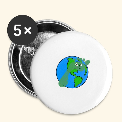 Earth Day Every Day - Buttons klein 25 mm (5er Pack)
