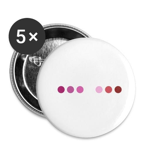Logo LGBT Lesbien - Lot de 5 petits badges (25 mm)
