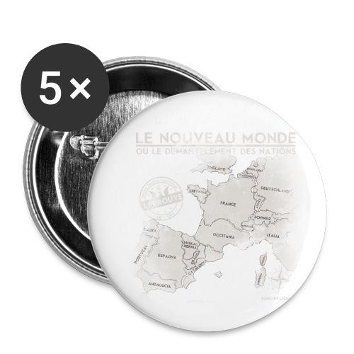 euroregions BLANC - Lot de 5 petits badges (25 mm)