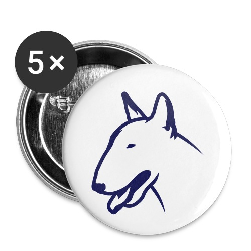 Bullterrier BULLY HEAD 1c_4light - Buttons klein 25 mm (5er Pack)