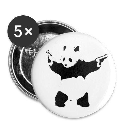 oso panda pistolas - Paquete de 5 chapas pequeñas (25 mm)