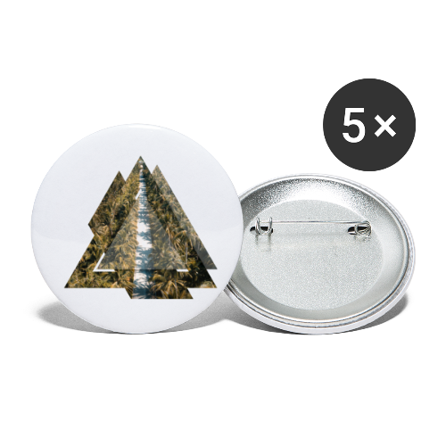 Triangle Tropical Palm Street - Buttons klein 25 mm (5er Pack)