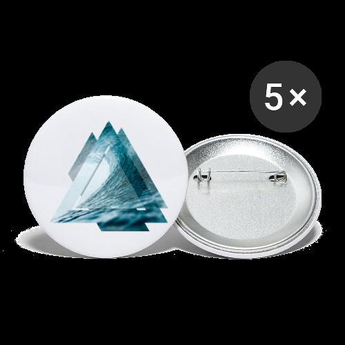 Dreieck Surfer Welle - Buttons klein 25 mm (5er Pack)