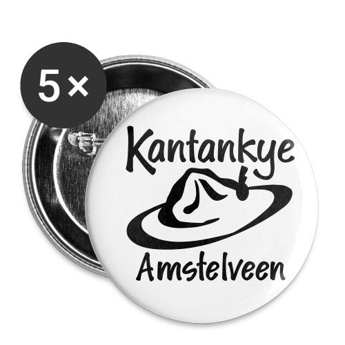 logo naam hoed amstelveen - Buttons klein 25 mm (5-pack)