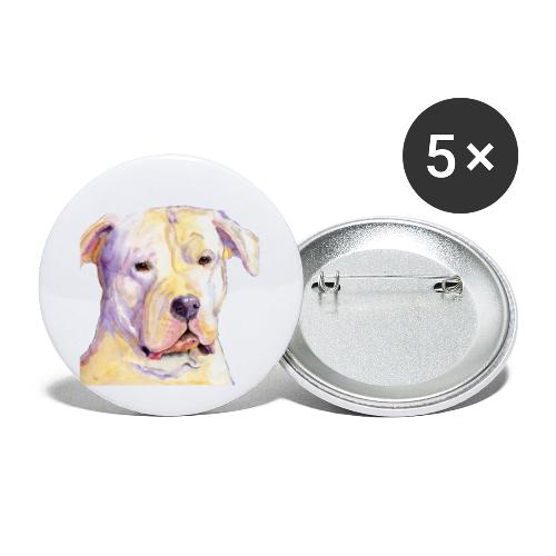 dogo argentino - Buttons/Badges lille, 25 mm (5-pack)