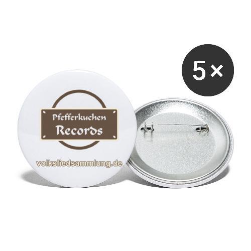 Pfefferkuchen Records Label - Volksliedsammlung - Buttons klein 25 mm (5er Pack)