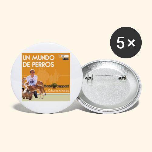Un mundo de perros 1 03 - Paquete de 5 chapas pequeñas (25 mm)