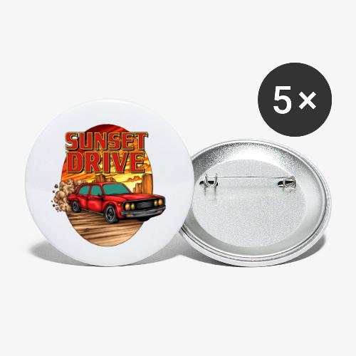 Sunset Drive - Lot de 5 petits badges (25 mm)