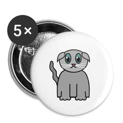 Süßes Kätzchen - Buttons klein 25 mm (5er Pack)
