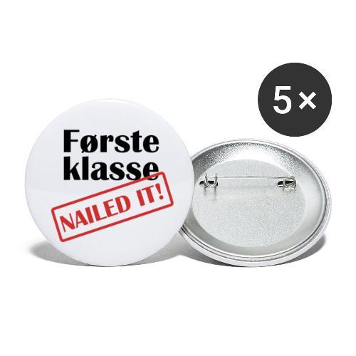 første klasse - nailed it - Liten pin 25 mm (5-er pakke)
