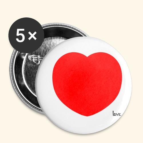 Heart - Buttons klein 25 mm (5er Pack)
